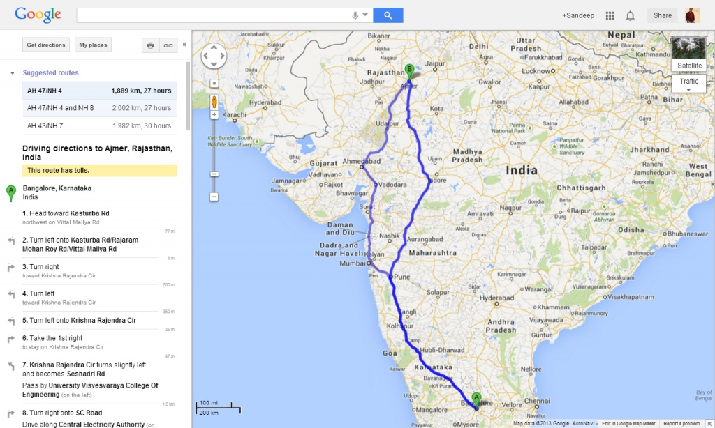 Longest Intercity Bus Route In India India Travel Forum