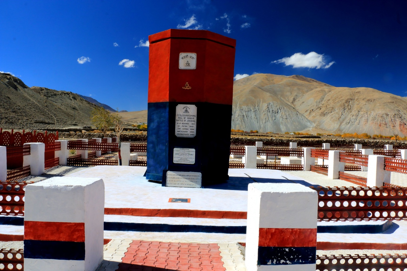 Special Frontier Force thwarts Chinese incursion in Ladakh, Kashmir, India. The 1962 India-China War Memorial at Chushul, Ladakh.