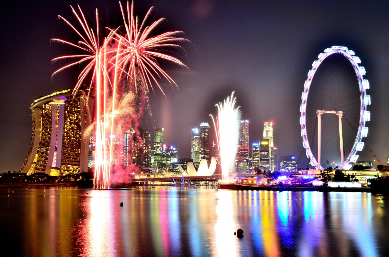 ndp fireworks bay east gardens the wacky duo singapore singapore blue golden hour long exposure photos page india