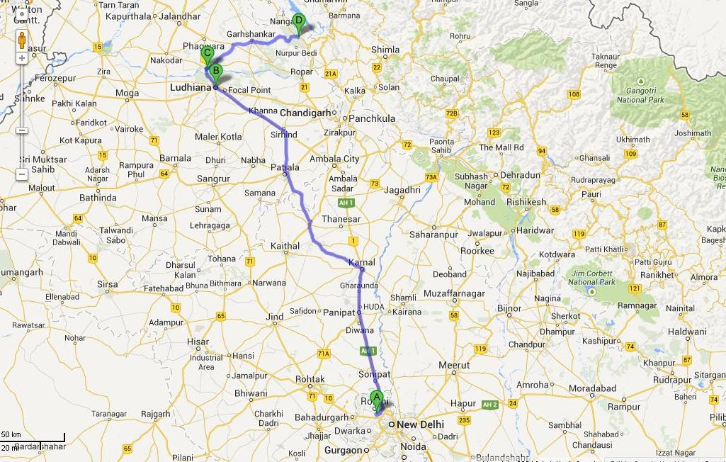 Delhi to Anandpur.JPG