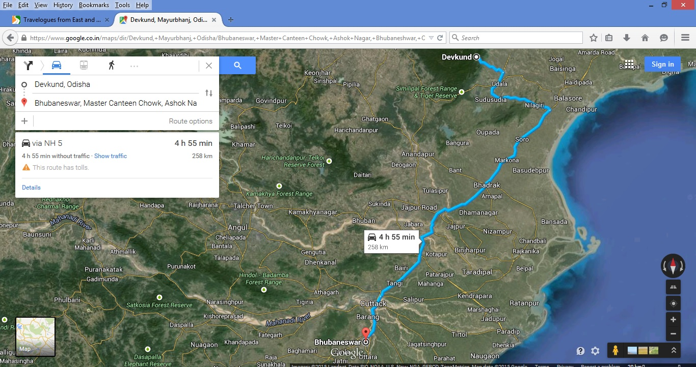 how to get distance between two places in google map