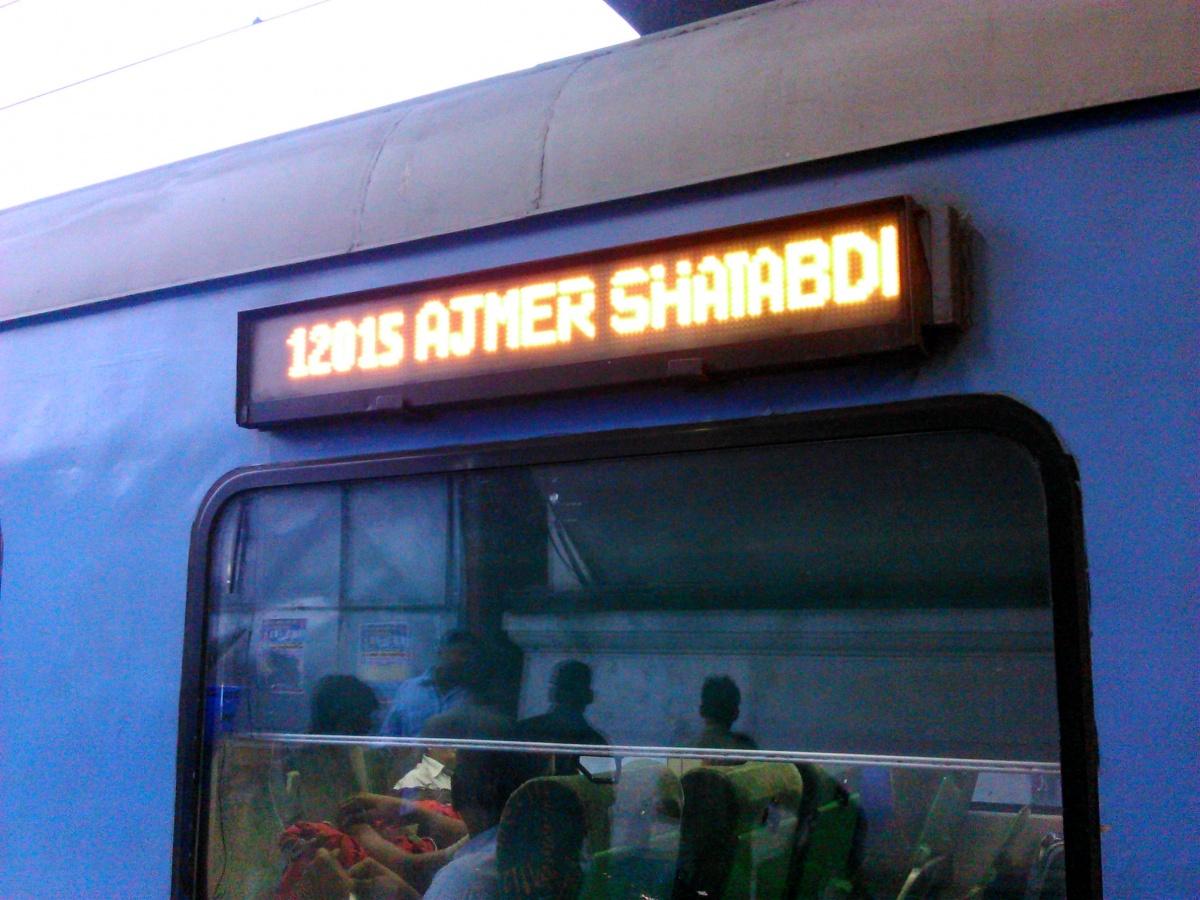 Trip Review 12015 Delhi Ajmer Shatabdi Express India