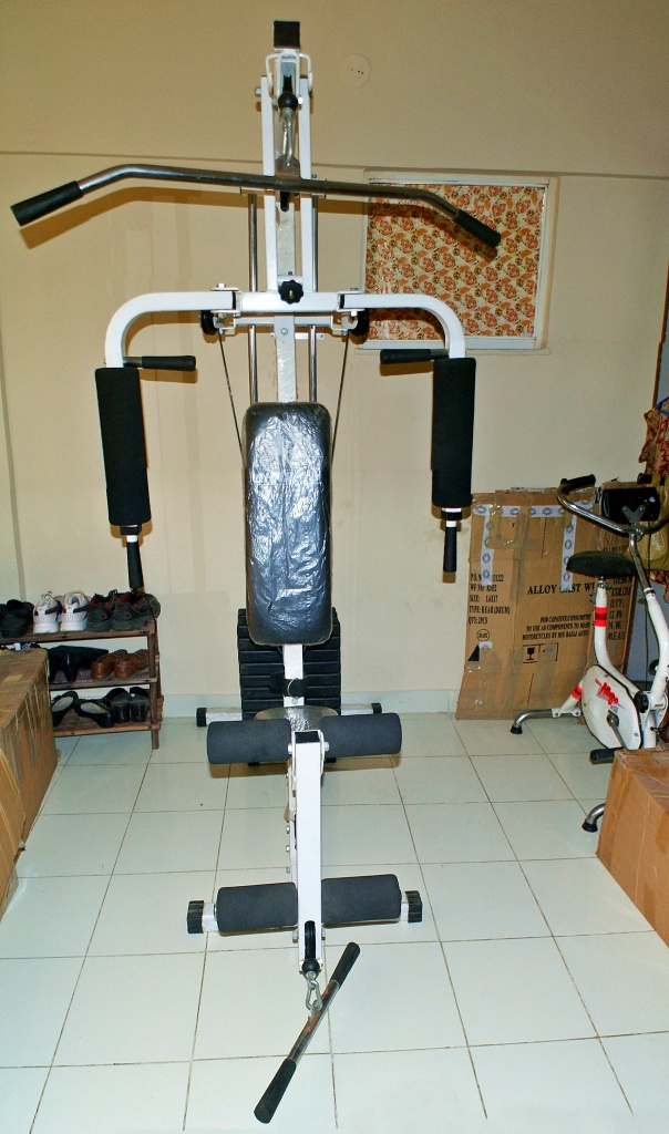 Brand new home gym and old exercising cycle for sale
