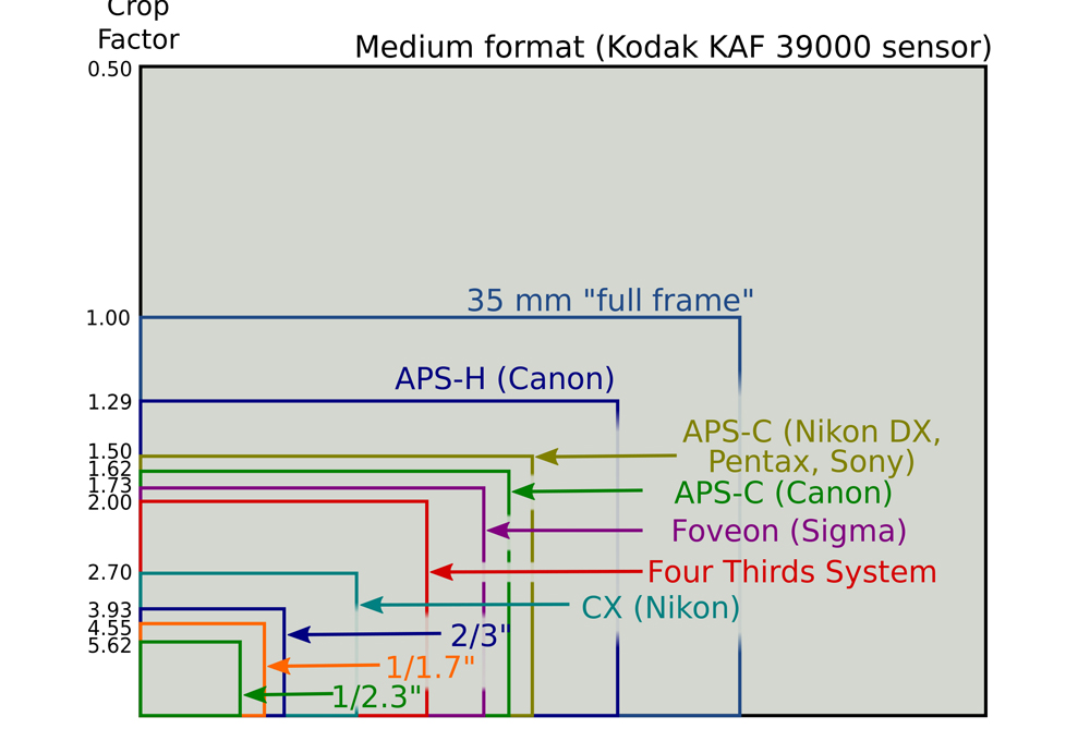 How Sensor Size effects on Field of View and Depth of Field   India ...