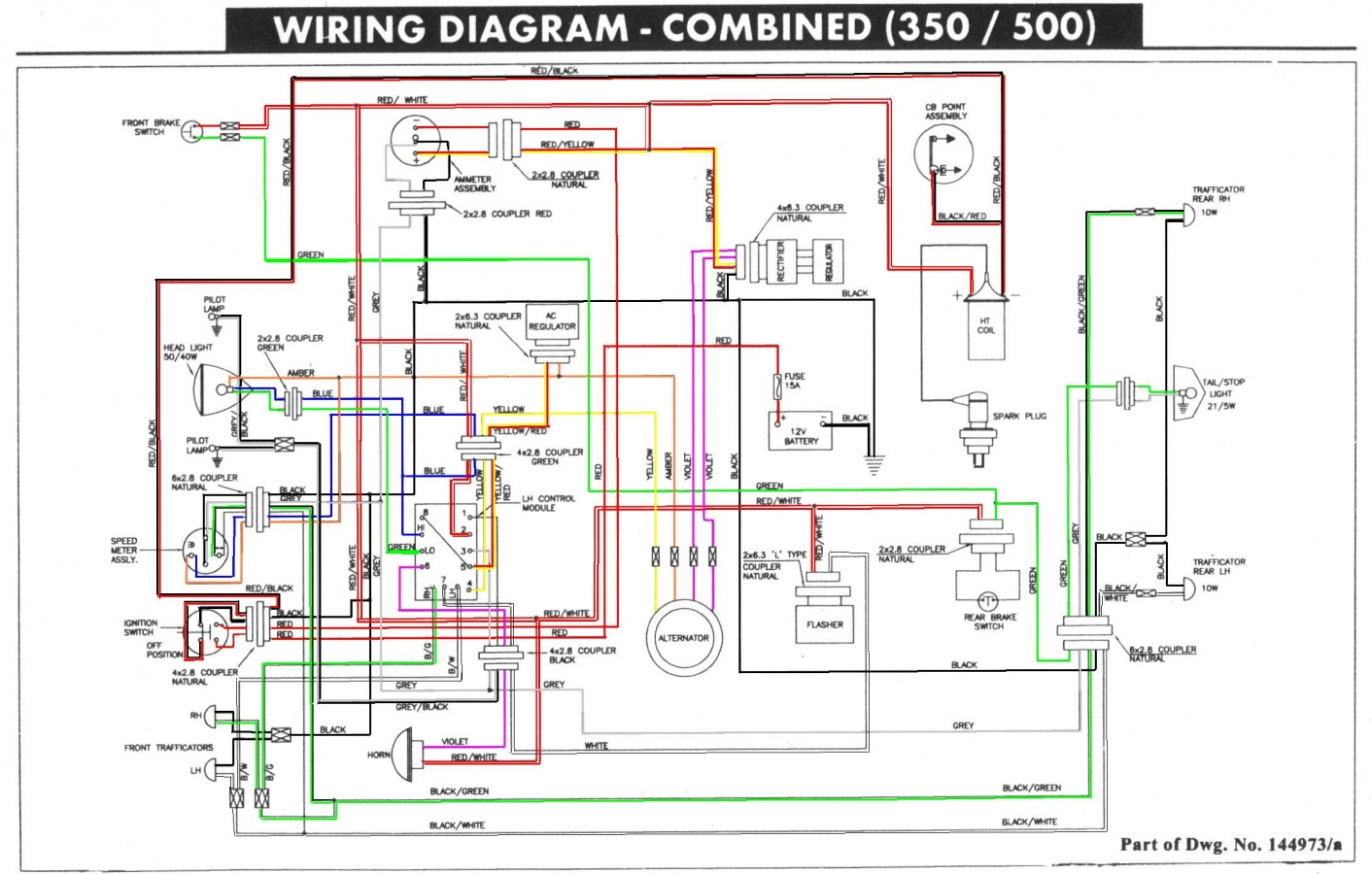 royal enfield thunderbird 350 wiring diagram royal wiring Basic Electrical Wiring Diagrams at eliteediting.co